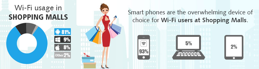 Wi-Fi Internet Access for Single and Chain of Shopping Malls